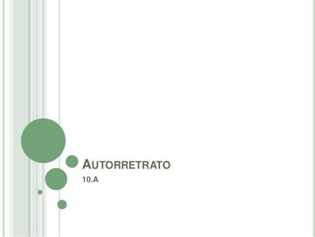 AUTORRETRATO  10.A