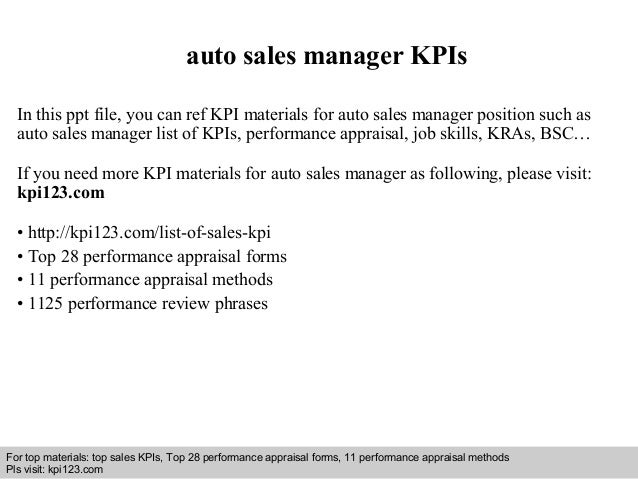 auto sales manager kp is