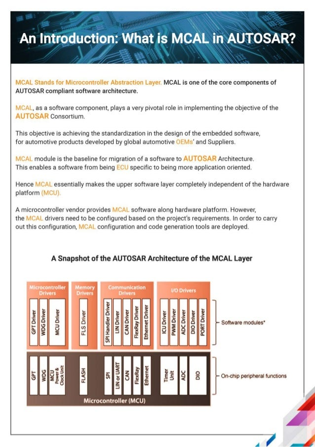 Autosar Handbook: MCAL Layer | AUTOSAR Architecture