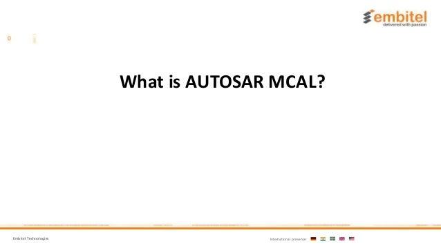 AUTOSAR MCAL (Micro Controller Abstraction Layer)