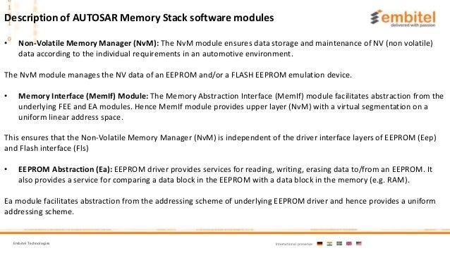 AUTOSAR Memory Stcak (MemStack)