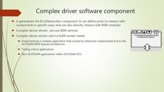 AUTOSAR COMPLEX DEVICE DRIVERS FOR WINDOWS 10