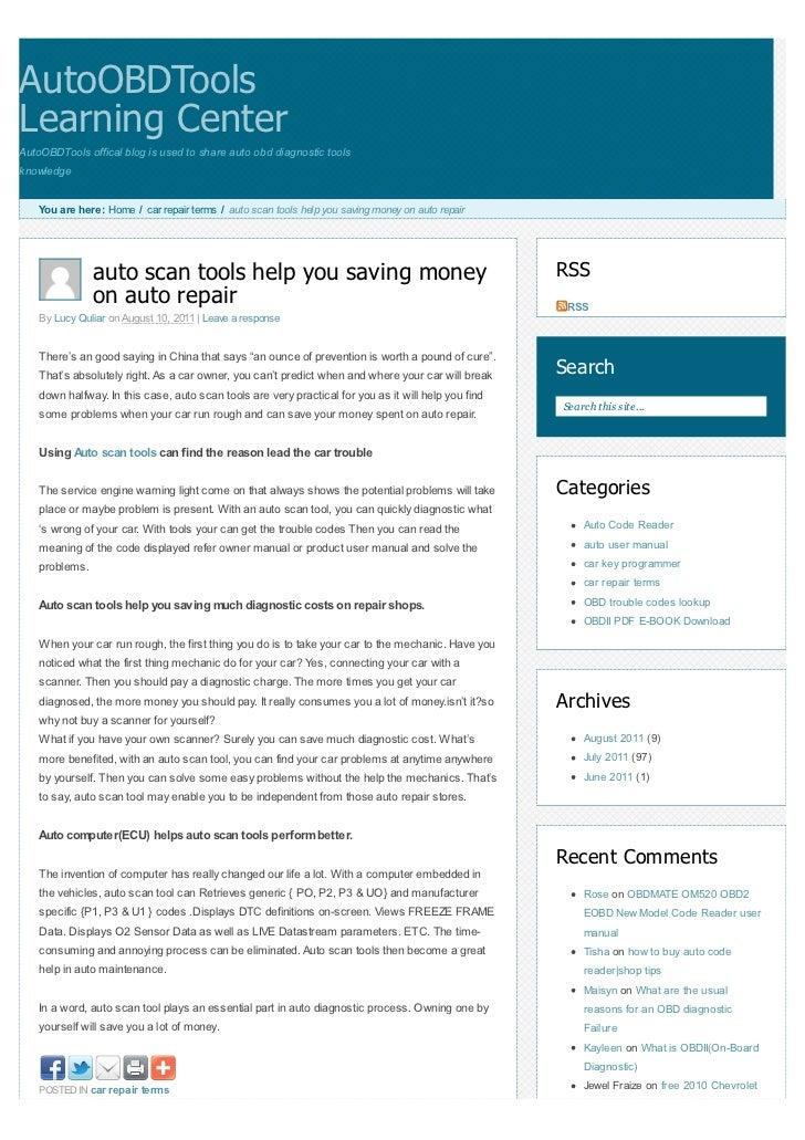 auto scan tools help you saving money on auto repair rh slideshare net Ford Auto Repair Manuals Online Library Auto Repair Manuals