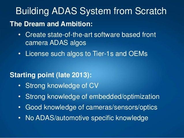 Building ADAS system from scratch Slide 3
