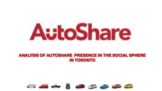 ANALYSIS OF AUTOSHARE PRESENCE IN THE SOCIAL SPHERE                    IN TORONTO