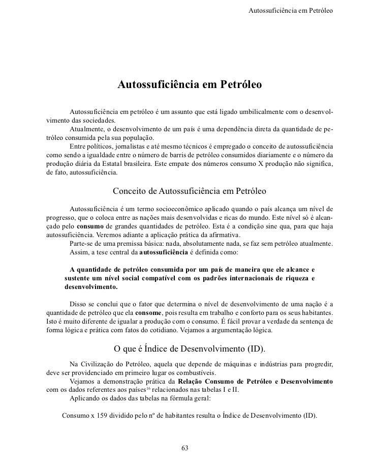 Autossuficiência em Petról                         Autossuficiência em Petróleo        Autossuficiência em petróleo é u...