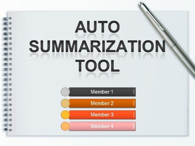 Try Our Auto Summarize Generator