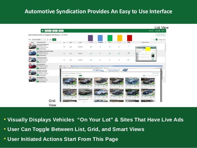 marketing and inventory The leader in search engine optimized auto dealer websites and automotive inventory marketing solutions for car dealers worldwide.