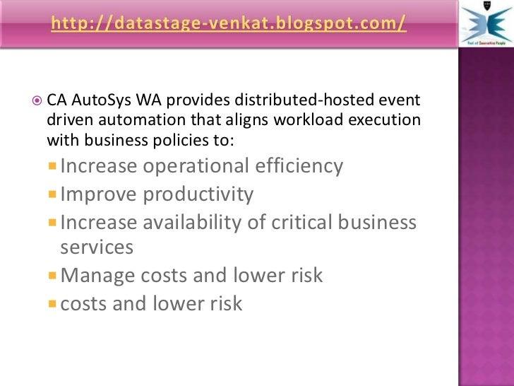 Unicenter Autosys Job Management