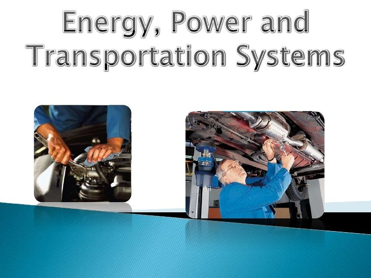 Energy, Power and Transportation Systems <br />