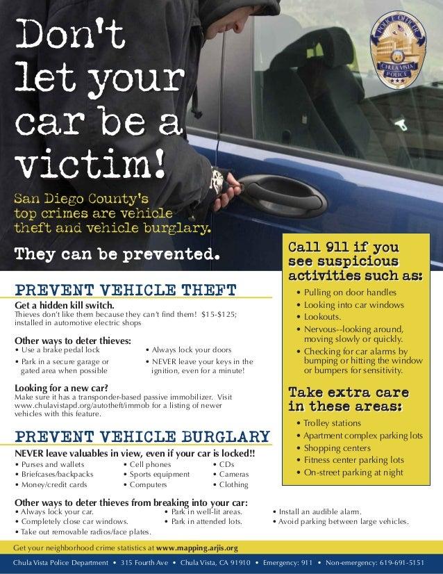 Auto Theft Prevention >> Auto Theft Prevention Tips