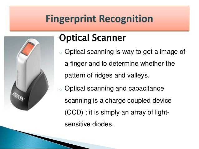 Capacitance Scanner o A simple capacitive sensor is made up of one or more semiconductor chips containing an array of tiny...