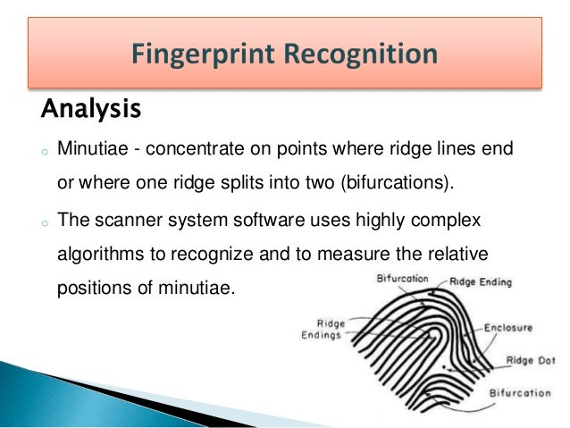Advantages  Physical attributes are much harder to fake than identity cards.  You can't guess a fingerprint pattern like...