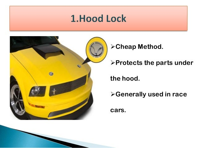 Least expensive method. Restricts access to Steering-Wheel by locking it in place.