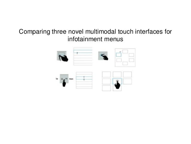 Comparing three novel multimodal touch interfaces for infotainment menus