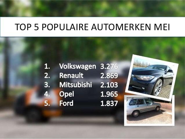 TOP 5 POPULAIRE AUTOMERKEN MEI