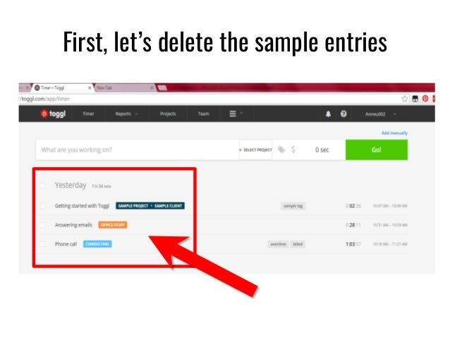 First, Letu0027s Delete The Sample Entries ...