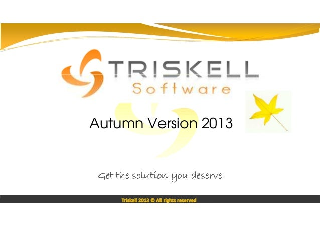 Proof Of Concept sur  Autumn Version 2013  Get the solution you deserve Triskell 2013 © All rights reserved