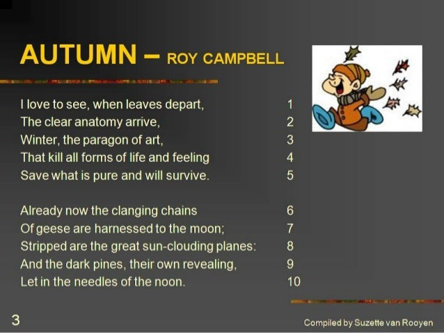 essay on the poem autumn by roy campbell