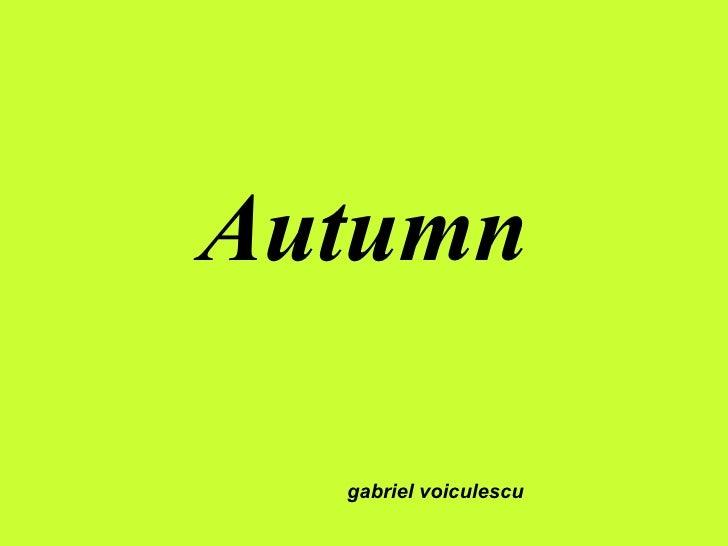 Autumn gabriel voiculescu