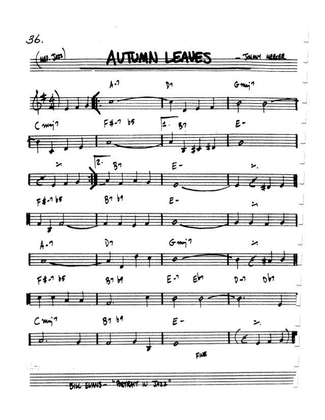 Autumn Leaves G minor - Learn Jazz Standards