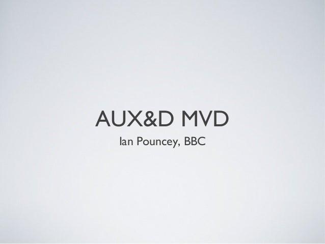 AUX&D MVD Ian Pouncey, BBC