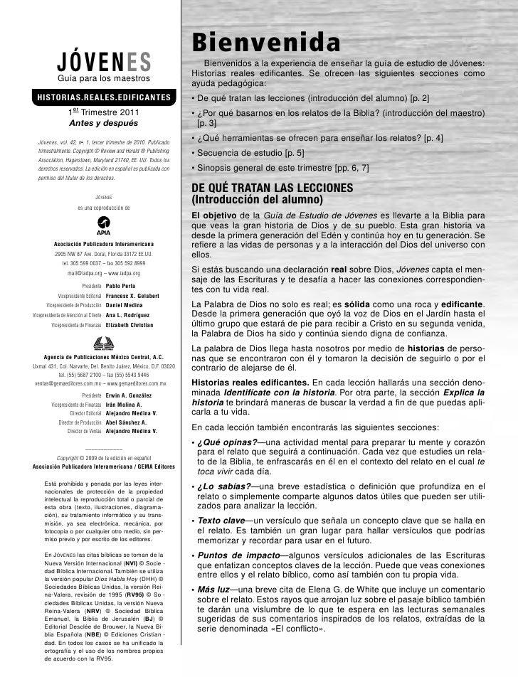 Bienvenida           JÓVENES           Guía para los maestros                                                             ...