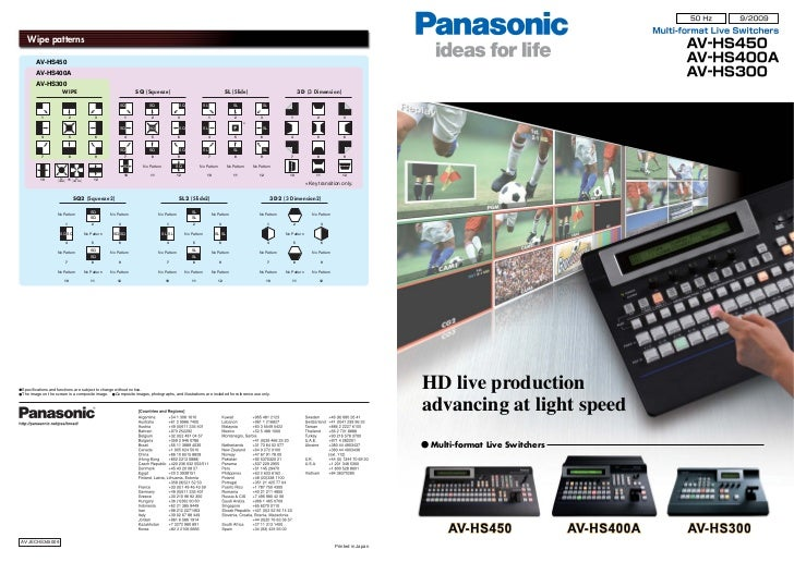 Wipe patterns       AV-HS450       AV-HS400A       AV-HS300                      WIPE                                     ...