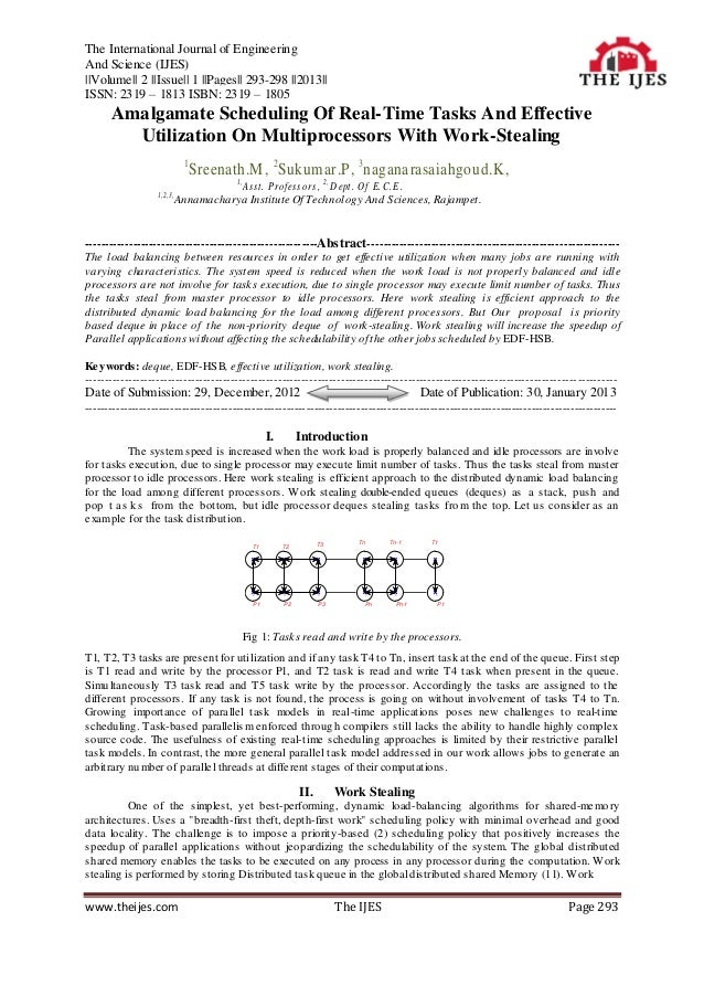 The International Journal of EngineeringAnd Science (IJES)  Volume   2   Issue   1   Pages   293-298   2013  ISSN: 2319 – ...