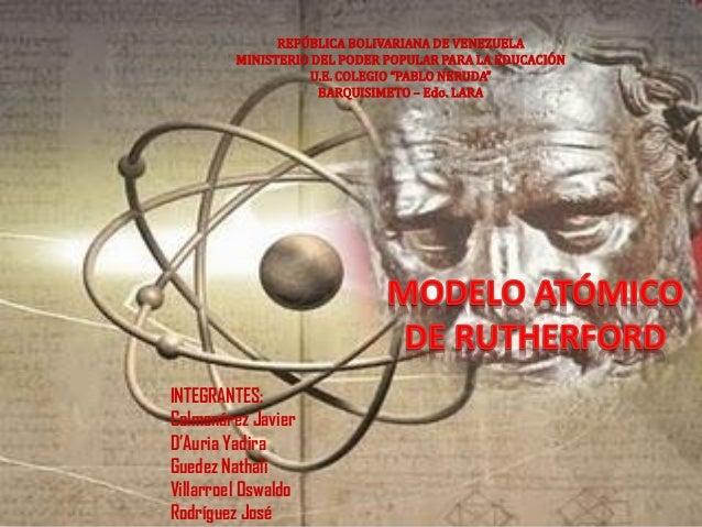"""REPÚBLICA BOLIVARIANA DE VENEZUELA MINISTERIO DEL PODER POPULAR PARA LA EDUCACIÓN U.E. COLEGIO """"PABLO NERUDA"""" BARQUISIMETO..."""