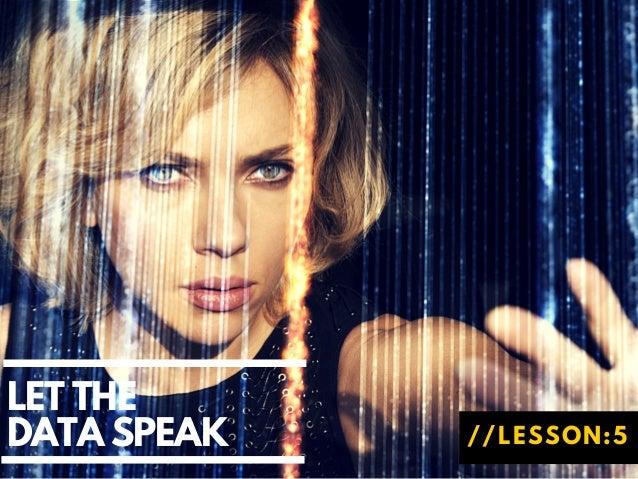 LET THE DATA SPEAK //LESSON:5