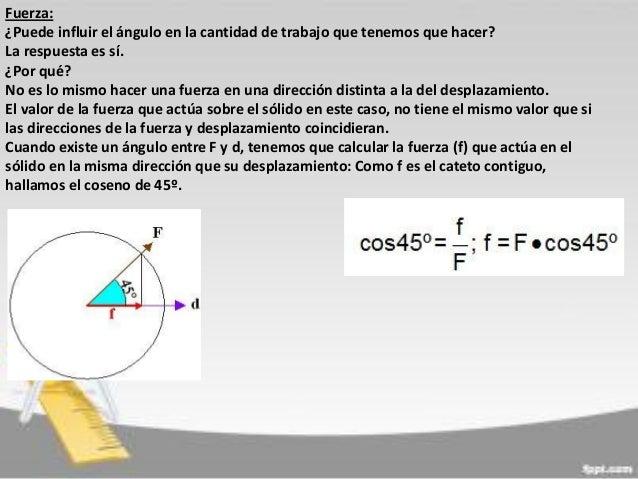 Fuerza: ¿Puede influir el ángulo en la cantidad de trabajo que tenemos que hacer? La respuesta es sí. ¿Por qué? No es lo m...