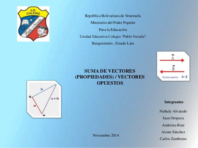 """República Bolivariana de Venezuela  Ministerio del Poder Popular  Para la Educación  Unidad Educativa Colegio """"Pablo Nerud..."""