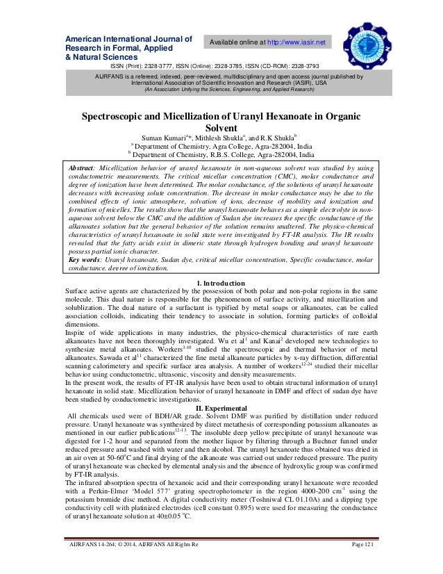 ISSN (Print): 2328-3777, ISSN (Online): 2328-3785, ISSN (CD-ROM): 2328-3793 American International Journal of Research in ...
