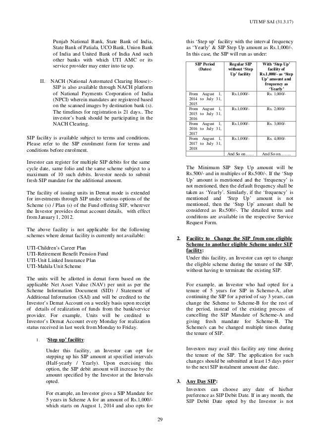 Additional Information of UTI Mutual Fund- Wishfin