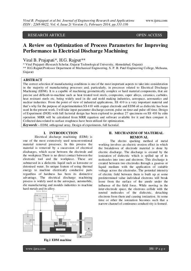 Viral B. Prajapati et al Int. Journal of Engineering Research and Applications ISSN : 2248-9622, Vol. 4, Issue 2( Version ...