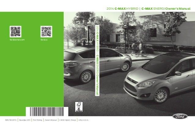 2014 ford c max hybrid owners manual http ava avto ru rh slideshare net Ford C-Max Hybrid Problems 2013 ford c-max energi owners manual