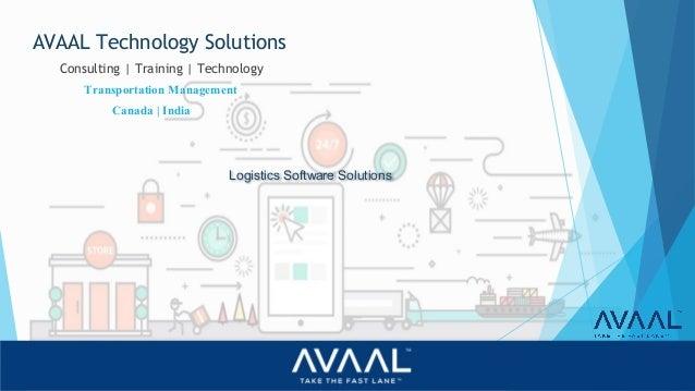 Avaal Logistics Software Solutions India