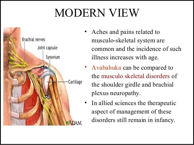 MODERN VIEW • Aches and pains related to musculo-skeletal system are common and the incidence of such illness increases wi...