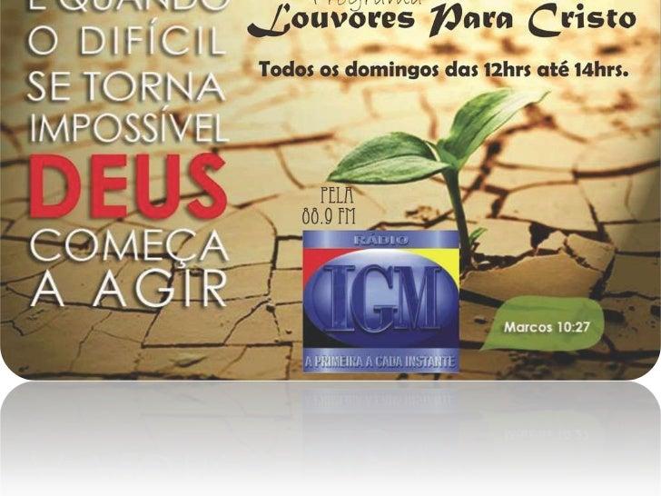 Espaço Louvores Para Cristo dia 04 de Dezembro