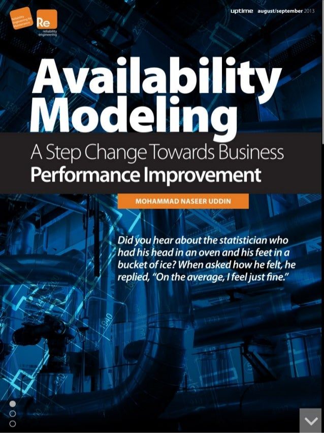 Availability modeling - For business performance improvement