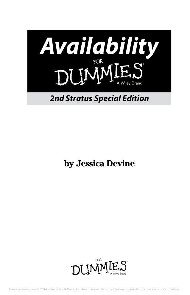 availability for dummies