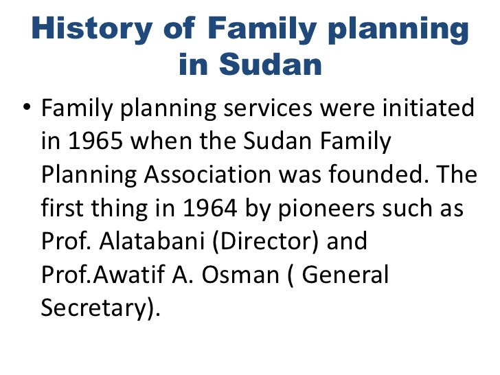 Availability Of Family Planning Methods In Sudan