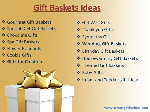 Available Many Types Of Gift Baskets For All Occasions Arcana Gift