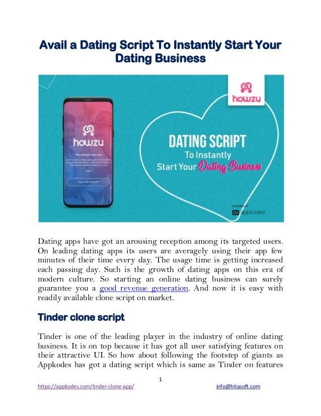 Starte en online dating Business