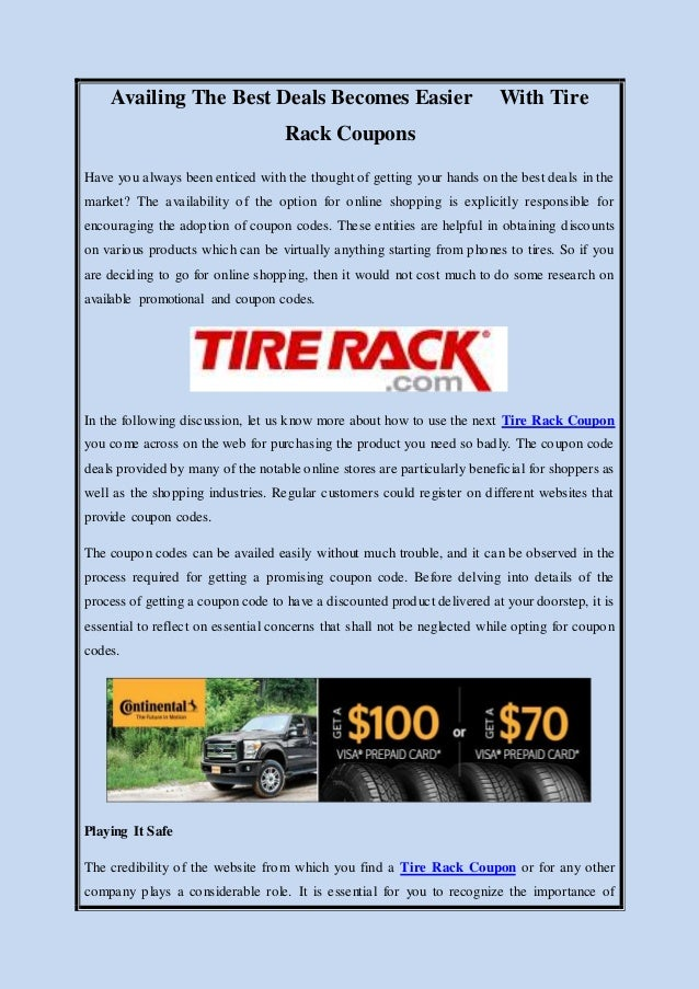 Tire Rack Coupon Codes: 50% Off Coupon, Free Shipping 12222