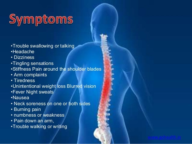 symptoms of neck pain