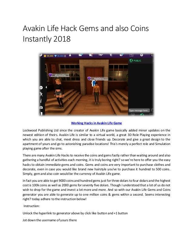 avakin life hack tool 2018