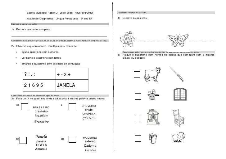 Escola Municipal Padre Dr. João Scotti_Fevereiro/2012                               Dominar convenções gráficas           ...