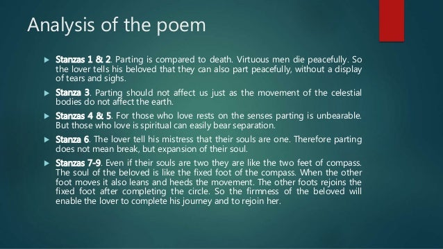 thesis statement for a valediction forbidding mourning Forbidding mourning john dryden in john donne batter my british literature essay   john donne a valediction forbidding mourning is not typical of metaphysical.